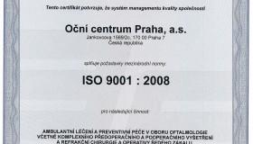 Mezinárodní certifikát kvality ISO 9001:2008