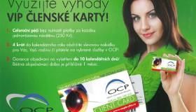 Nově v OCP nabízíme VIP členskou kartu