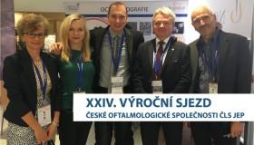 Účastníme se sjezdu České oftalmologické společnosti ČLS JEP