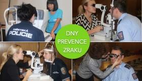 Dny prevence zraku: Policisté a záchranáři upozorňují na nutnost prevence očních vad