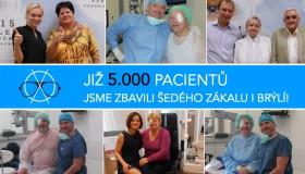 Již 5000 pacientů jsme zbavili šedého zákalu i brýlí