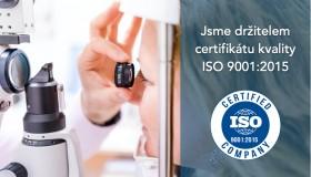 Jsme dlouhodobým držitelem certifikátu kvality ISO